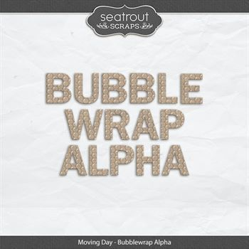 Moving Day - Bubblewrap Alpha Digital Art - Digital Scrapbooking Kits