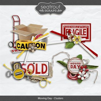 Moving Day - Clusters Digital Art - Digital Scrapbooking Kits