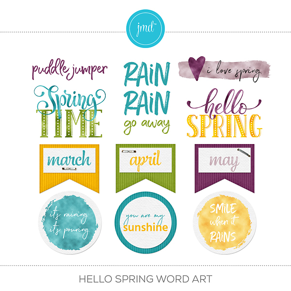 Hello Spring Word Art