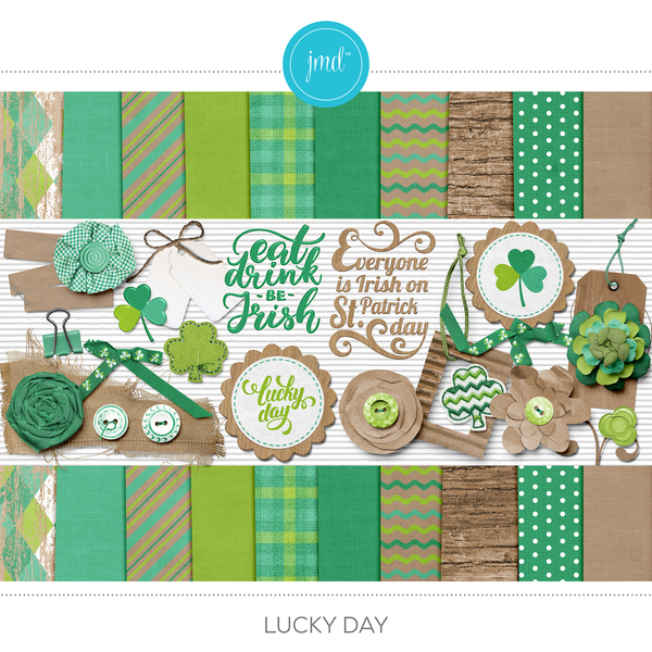 Lucky Day Digital Art - Digital Scrapbooking Kits