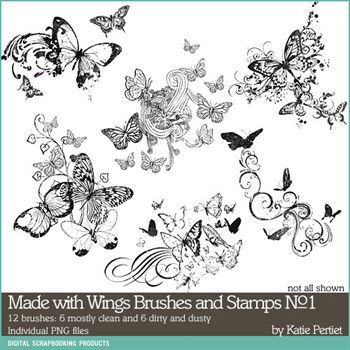 Made With Wings Brushes And Stamps No. 01