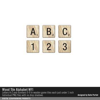 Wood Tile Alphabet No. 01