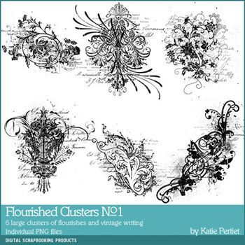 Flourished Clusters Brushes And Stamps No. 01