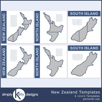 New Zealand 12x12 Templates