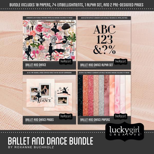 Ballet And Dance Bundle Digital Art - Digital Scrapbooking Kits