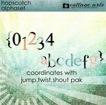 Hopscotch Alphaset