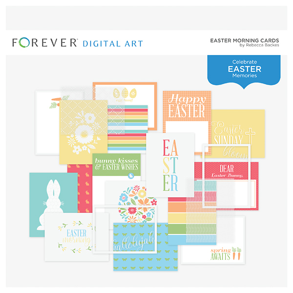 Easter Morning Cards Digital Art - Digital Scrapbooking Kits