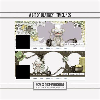 Bit Of Blarney - Timelines Digital Art - Digital Scrapbooking Kits