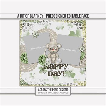 Bit Of Blarney - Pre-designed Page Digital Art - Digital Scrapbooking Kits