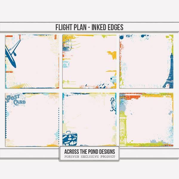 Flight Plan - Inked Edge Papers