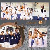 Basketball 12x12 Page Print Templates