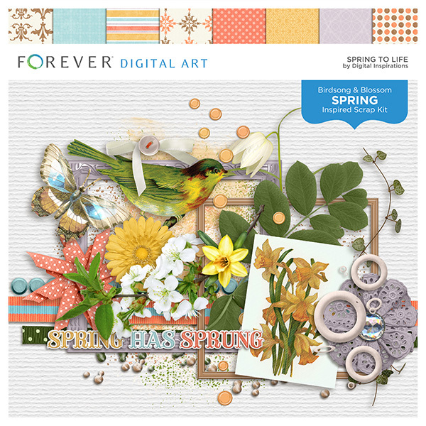 Spring To Life Digital Art - Digital Scrapbooking Kits