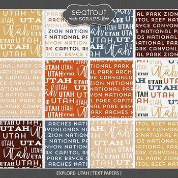 Explore Utah - Text Papers