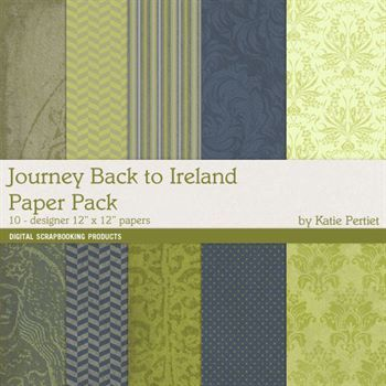 Journey Back To Ireland Paper Pack Digital Art - Digital Scrapbooking Kits