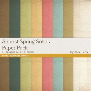 Almost Spring Solids Paper Pack
