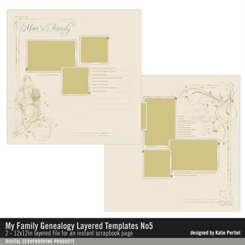 My Family Genealogy Layered Template No. 05