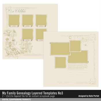My Family Genealogy Layered Template No. 03