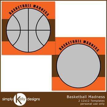 Basketball Madness 12x12 Template Set