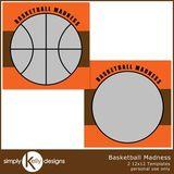 Basketball Madness 12x12 Template Set