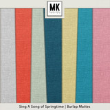 Sing A Song Of Springtime Burlap Papers