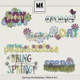 Spring Hullaballoo Word Art