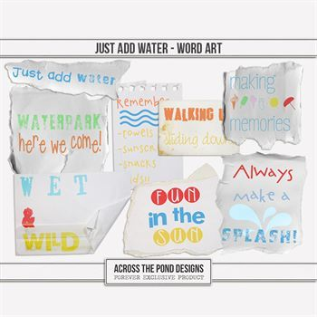 Just Add Water - Word Art