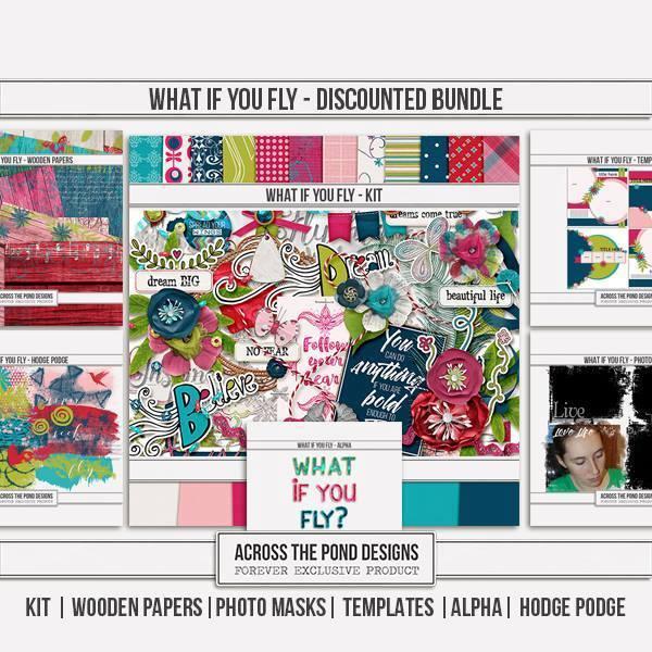 What If You Fly - Discounted Bundle Digital Art - Digital Scrapbooking Kits
