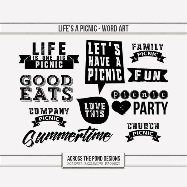 Life's A Picnic - Word Art