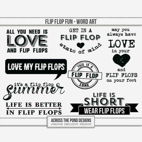 Flip Flop Fun - Word Art