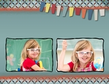 School Through The Years 11x8.5 Digital Predesigned Pages