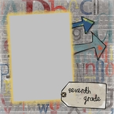 School Through The Years 12x12 Digital Predesigned Pages