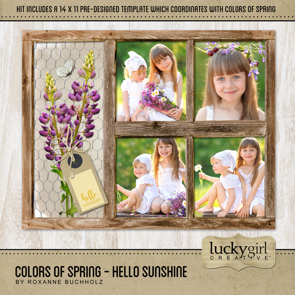 Colors Of Spring - Hello Sunshine Digital Art - Digital Scrapbooking Kits