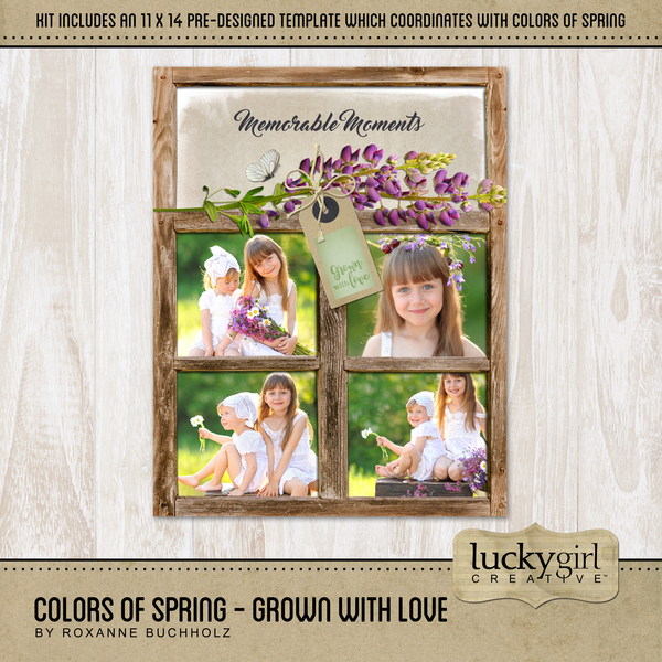Colors Of Spring - Grown With Love Digital Art - Digital Scrapbooking Kits