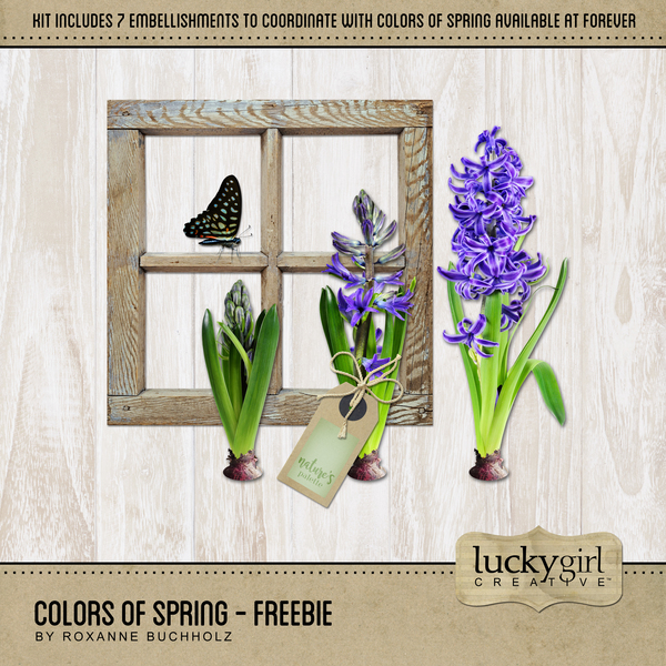 Colors Of Spring - Freebie Digital Art - Digital Scrapbooking Kits