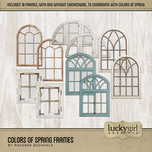 Colors Of Spring Frames Digital Art - Digital Scrapbooking Kits