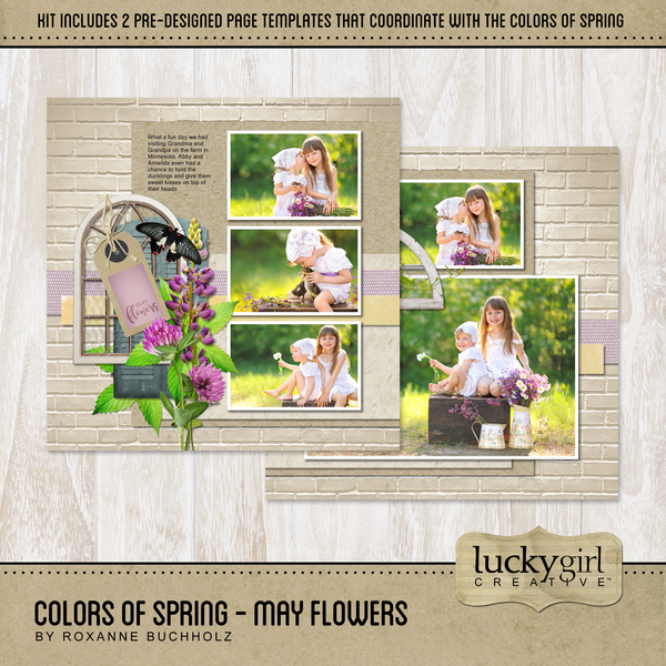 Colors Of Spring - May Flowers Digital Art - Digital Scrapbooking Kits