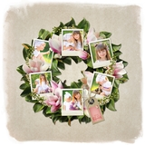 Colors Of Spring Wreath Print