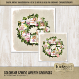 Colors Of Spring Wreath Canvases