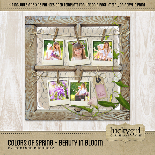 Colors Of Spring - Beauty In Bloom Digital Art - Digital Scrapbooking Kits