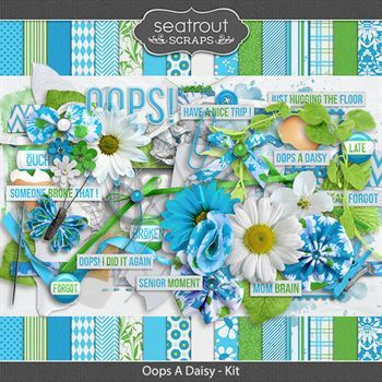 Oops A Daisy Digital Art - Digital Scrapbooking Kits