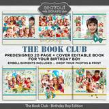The Book Club - Birthday Boy Predesigned Editable Book