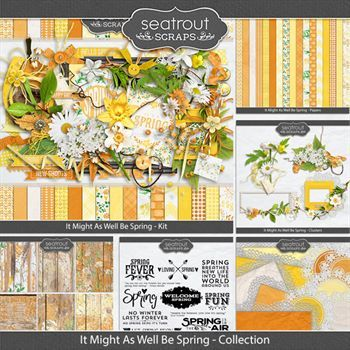 It Might As Well Be Spring Discounted Bundle Digital Art - Digital Scrapbooking Kits