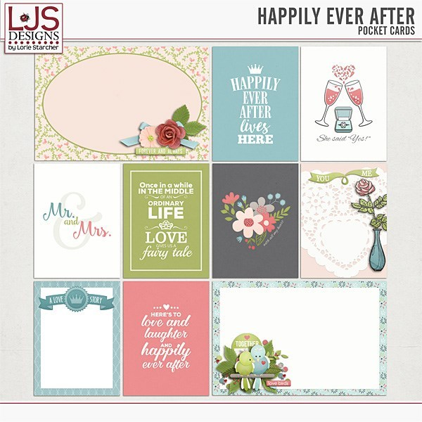 Happily Ever After - Cards Digital Art - Digital Scrapbooking Kits
