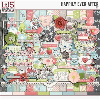 Happily Ever After - Kit Digital Art - Digital Scrapbooking Kits