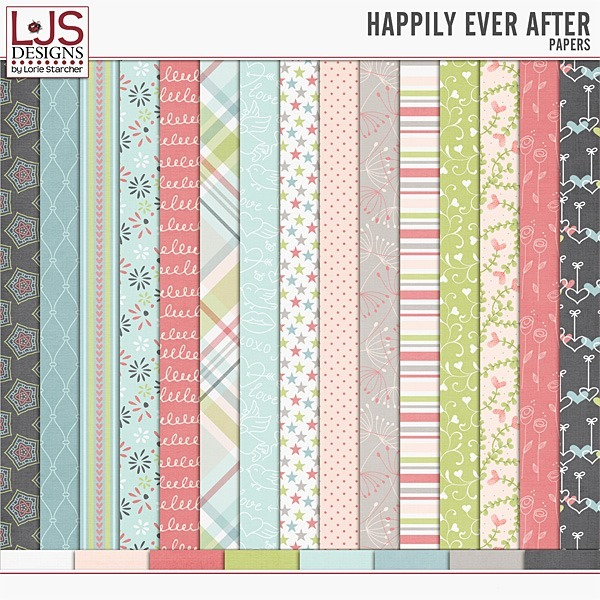 Happily Ever After - Papers Digital Art - Digital Scrapbooking Kits
