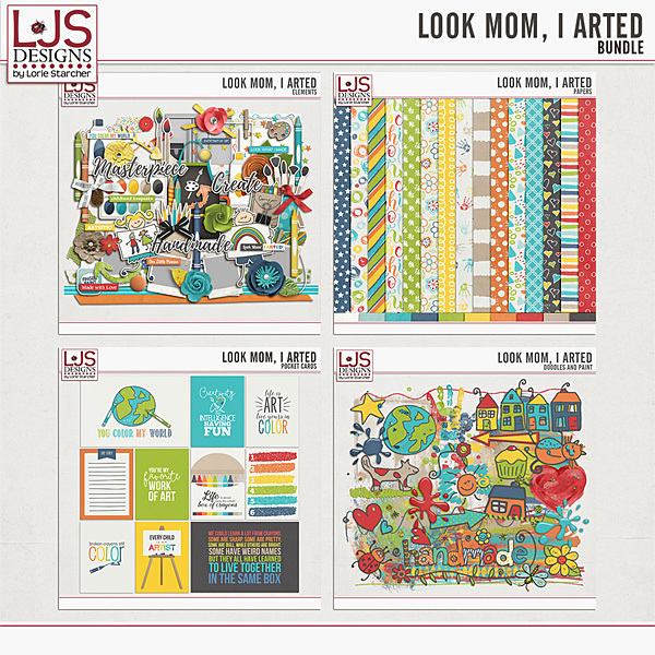 Look Mom, I Arted - Bundle Digital Art - Digital Scrapbooking Kits