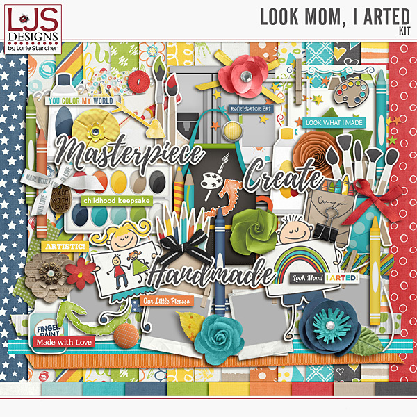 Look Mom, I Arted - Kit Digital Art - Digital Scrapbooking Kits