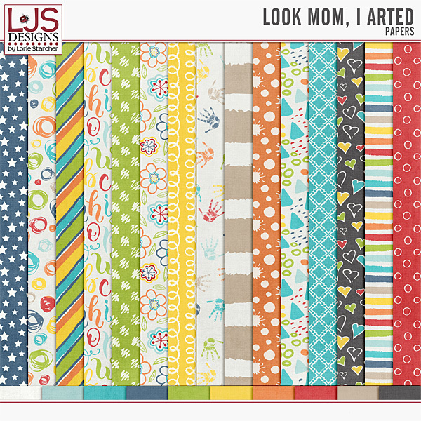 Look Mom, I Arted - Papers Digital Art - Digital Scrapbooking Kits