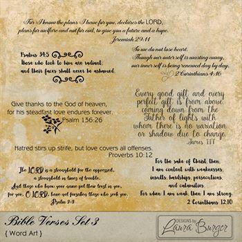 Bible Verses Set 3