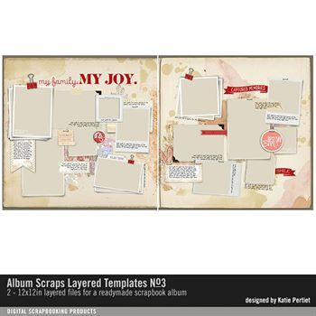 Album Scraps Layered Templates No. 03